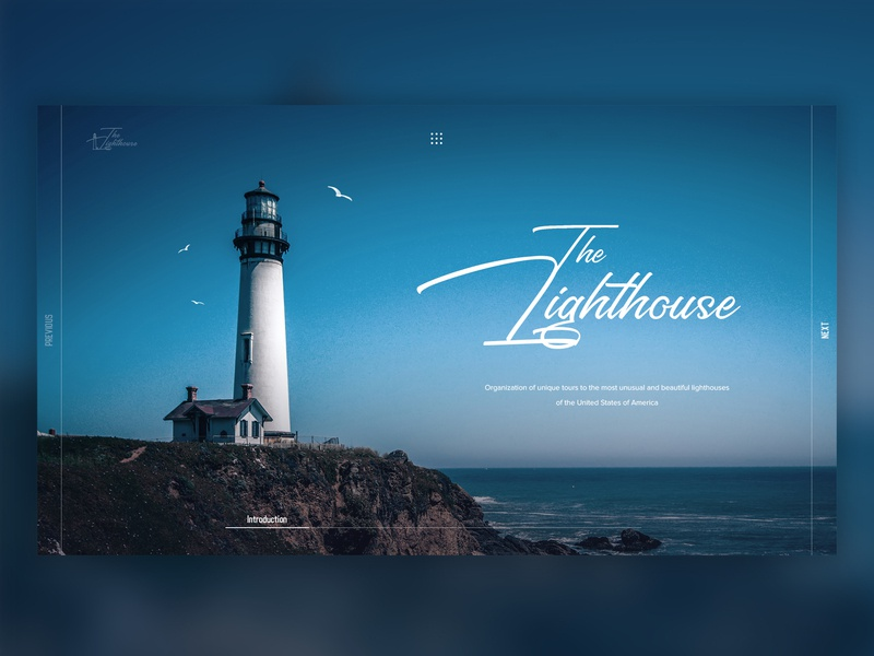 The Lighthouse landing page best 2019 gull melancholy ocean sea blue light blue lighthouse landing  page minimalism