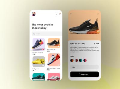 Shoes Store Concept branding ui design app ux