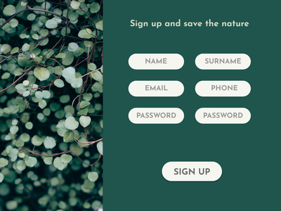 Daily UI Challenge #001 signup