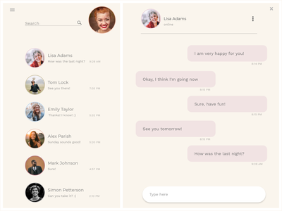 UI13 direct messaging 013 dailyui013 dailyuichallenge dailyui