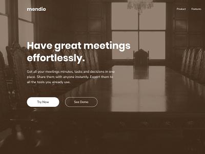 Meetings Organizing and Hosting Landing Page Concept tinting tint meetings meeting web ui image figma design
