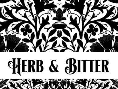 Menu Cover typography branding logo design illustration