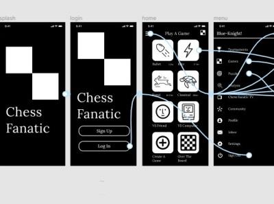 Chess Fanatic - Chess Mobile App - Protoflow