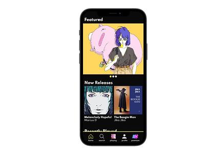 E# - Music Streaming Mobile App