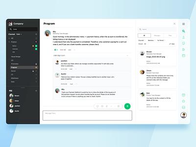 Collaboration UI design dashboad collaboration work app design ui