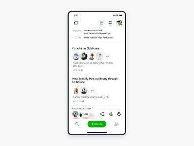 Clubhouse UI redesign design simple app iphone ui