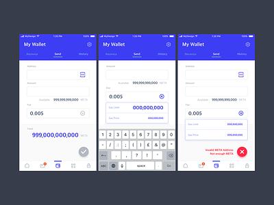 Wallet UI form input wallet app ui