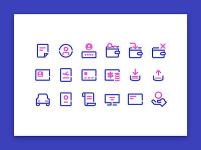 icon set ui simple icon