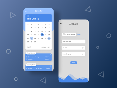 Daily UI 38 038 dailyui38 daily 100 challenge android app calander ui dailyuichallenge dailyui