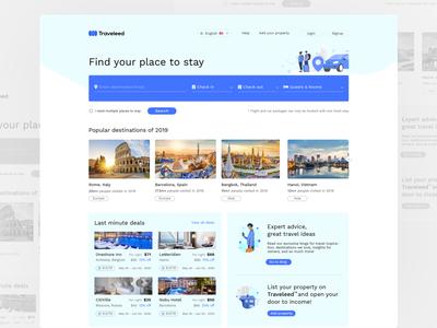 Travel Homepage transport vacations trip booking hotel flight destination travel website travel agency travel web ui