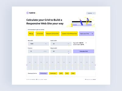 Grid Calculator uxdesign ui  ux cleanui simple ui grid system calculator grid design grid layout uiuxdesign uidesign uiux ui web