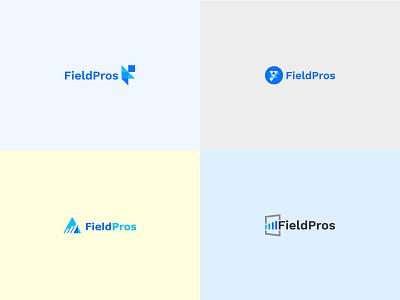 FieldPros Logo flat minimal icon app typography brand ux vector branding logo