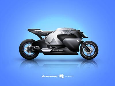 Kawasaki X Concept vector illustration motorbike concept motorcycle design japan bike motorcycle art motorcyle kawasaki prototype concept design motorbike