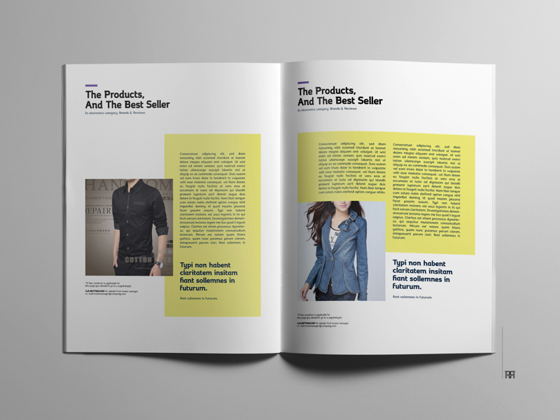 Business Magazine product flat new freebie business corporate promotional brochure free template magazine mag