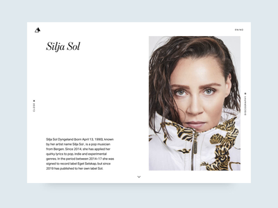 Music Bio UI web design after effects adobe xd ux design ui design
