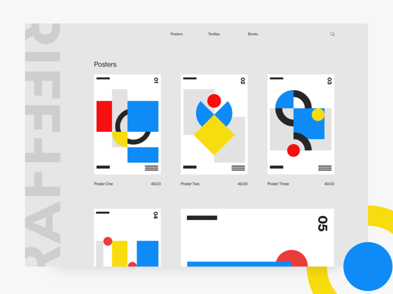 Poster Store UI web design user interface design adobe xd
