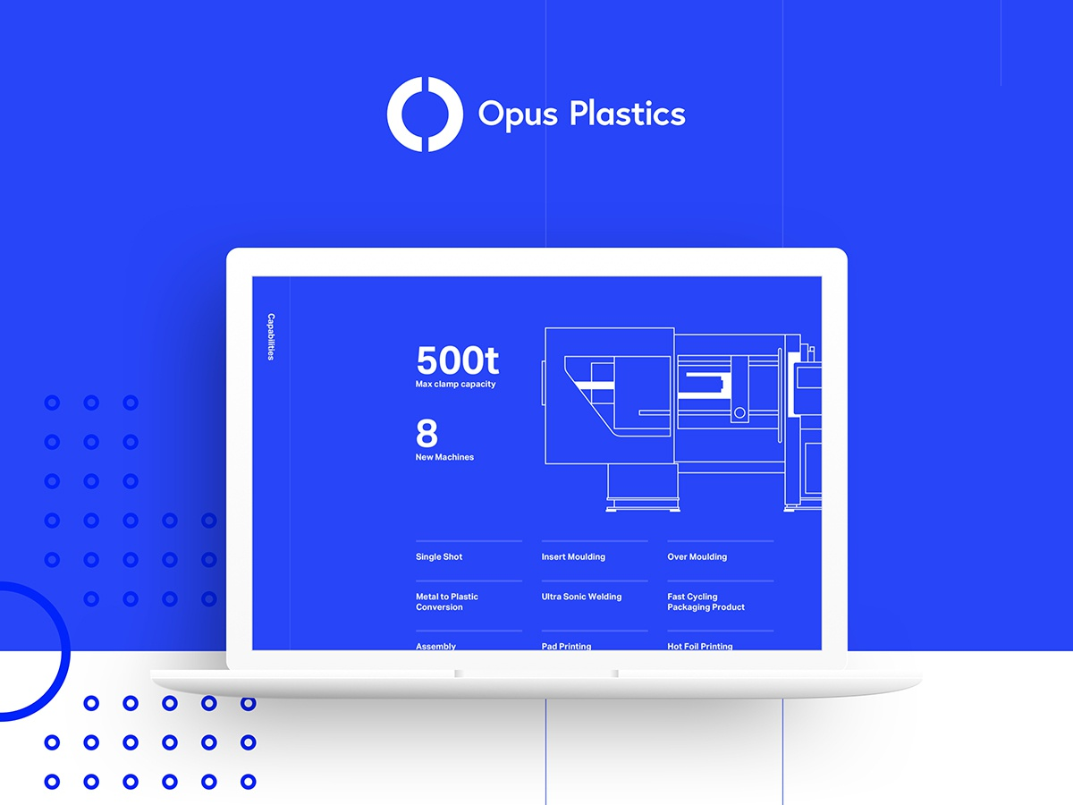Opus Plastics UI Concept web user interface design user experience ui branding