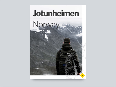 Jotunheimen UI Animation - Adobe XD Experiments