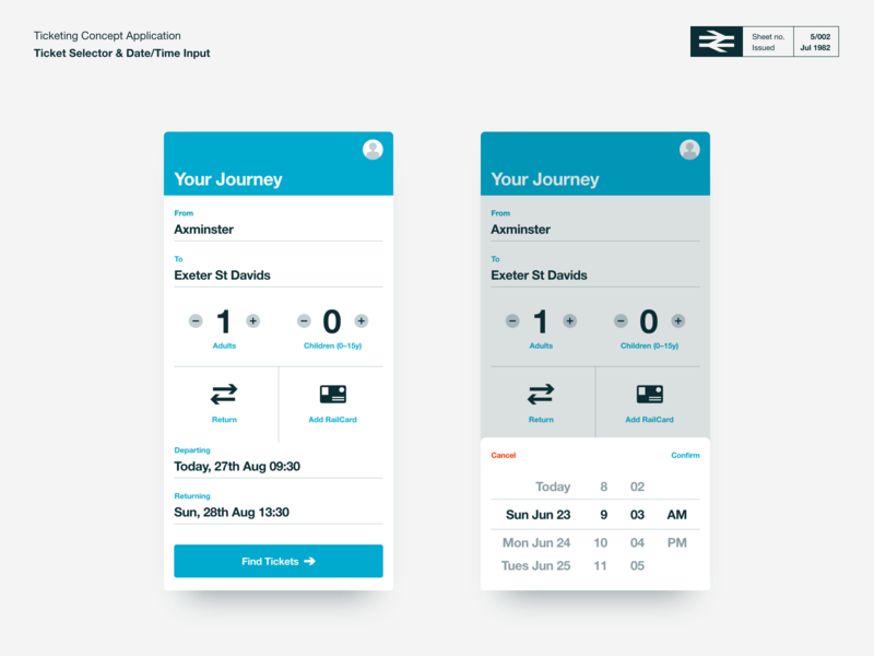 TicketBooth - Ticket Selection and Date Picker ui adobe xd ticket app ticket booking travel app