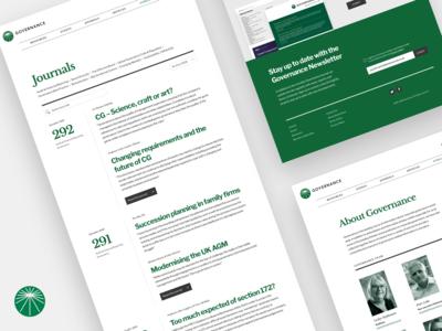 Governance - Website Explorations