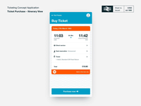 TicketBooth Rail Ticketing Concept - Itinerary View