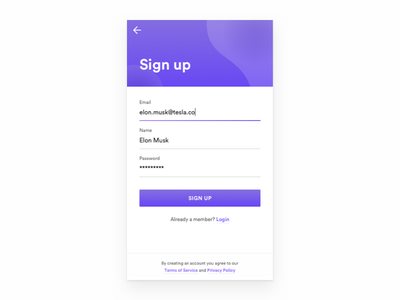 Hello Dribbble! — Daily UI Challenge #001 daily ui 001 ui sign up debut dailyui