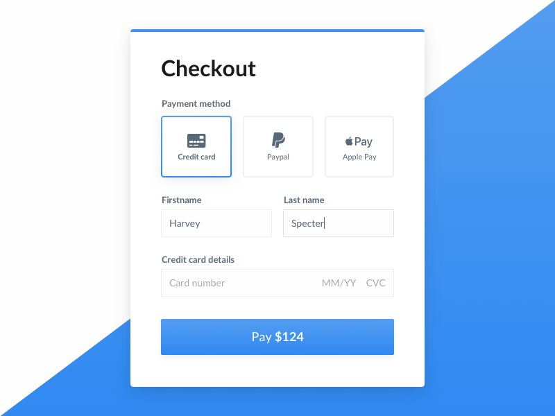 Checkout — Daily UI Challenge #002 daily ui 002 form payment ui daily ui checkout
