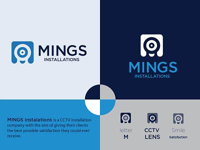 MINGS Installations- CCTV surveillance security logo security camera security system cctv logodesign branding design brand identity logotype vector logo design identity logo icon