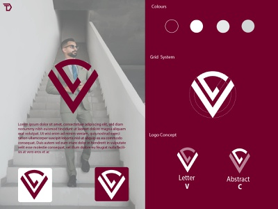 VC monogram Logo modern minimal monogram logotype logodesign brand identity branding design logo design identity illustration logo icon