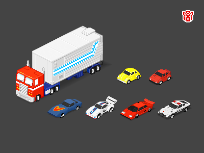 More Autobots icons pixels transformers