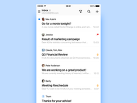 New Mail list concept