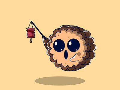 Mooncake - The Lampion animal cartoon food character food cartoon mbestyle cartoon illustration character cartoon character design characters animal character mascot logo mascot character mascot design branding illustrator vector logo graphic design illustration animation