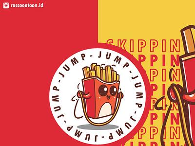Fries Illustration design branding illustrator vector logo graphic design illustration fries