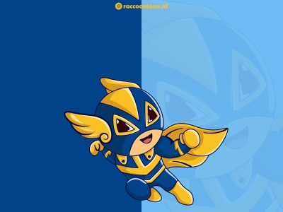 Superhero Illustration design branding illustrator vector graphic design illustration cute logo superhero mbe