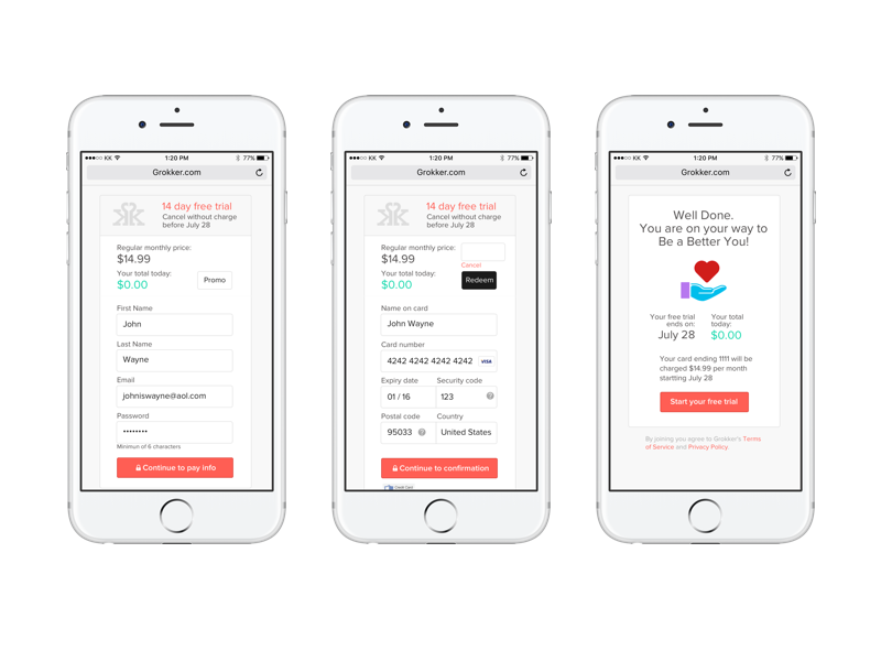 Checkout flow product ui ux mobile payment checkout