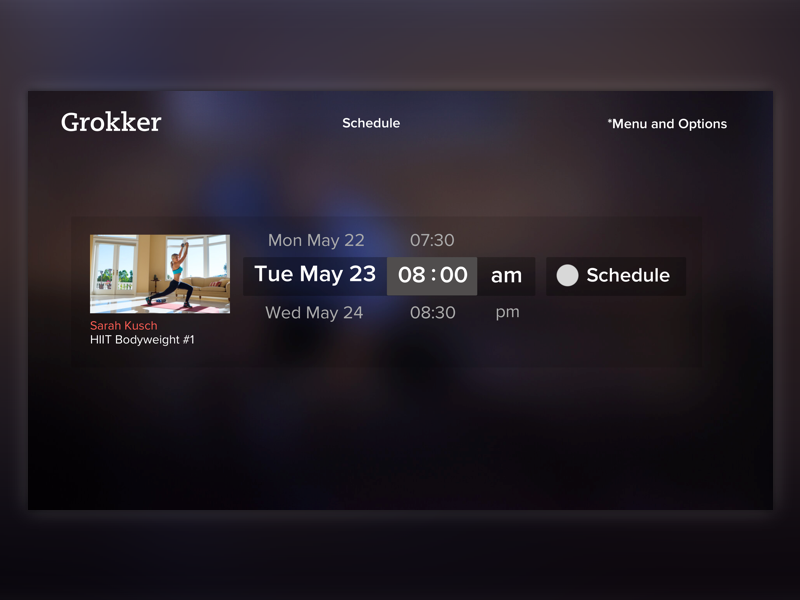 Scheduling Video Roku TV App schedule agenda calendar video roku tv ux ui