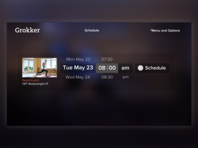 Scheduling Video Roku TV App