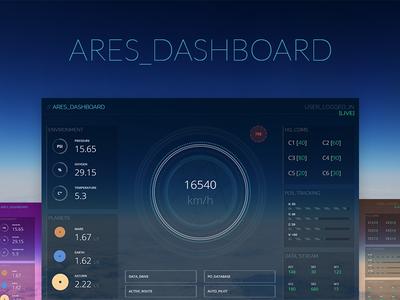 Ares Dashboard futuristic sci-fi template freebie ui ui design dashboard