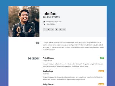 Resume Template freebie template design resume