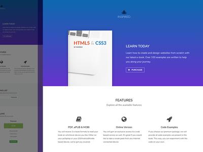 Landing e-book ebook landing design template freebie