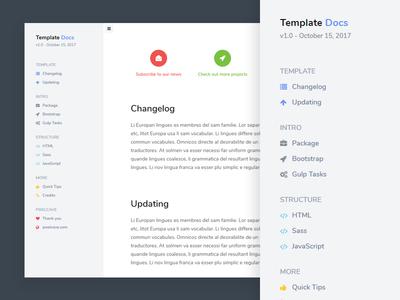 Documentation template ui design documentation docs
