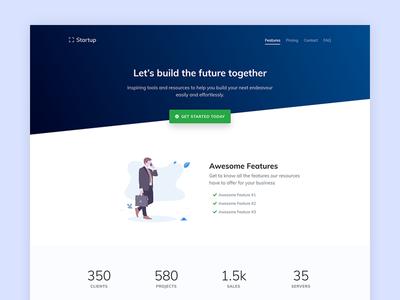 Landing Startup startup landing template ui design ui