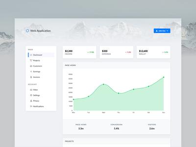 Web App Dashboard backend dashboard dashboard template ui designer ui design user interface web application admin