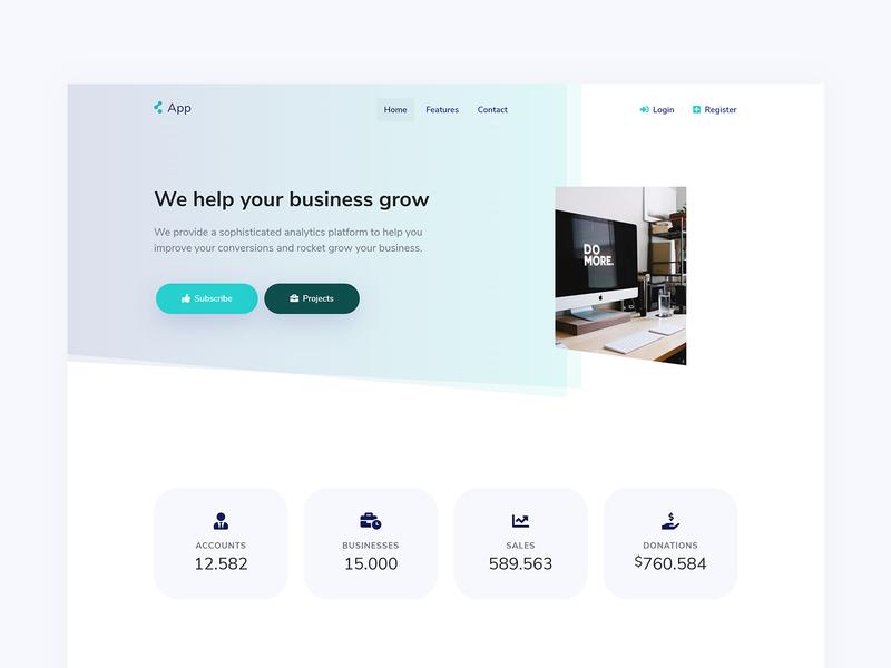 SaaS Landing saas landing page saas website startup landing marketing template ui design ui