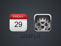 Calendar And Redone Settings Icon