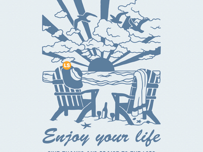 Enjoy your life vector flat type typography minimal logo illustration illustrator graphic design design branding