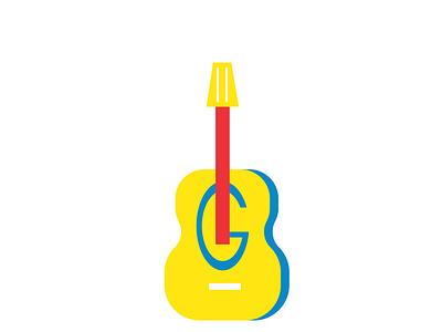 GUITAR LOGO ux ui illustrator letter g guitar logo illustration flat business design graphic design branding