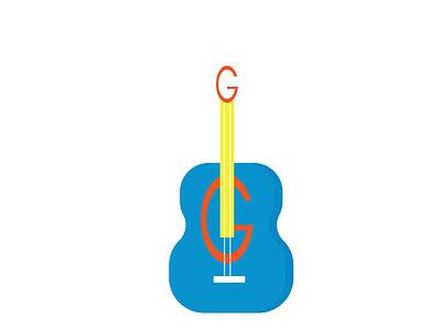 G GUITAR LOGO ui letter g logo guitar logo illustrator illustration flat business design graphic design branding