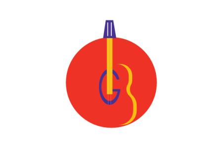 GUITAR typography ux logo illustrator illustration flat business design graphic design branding