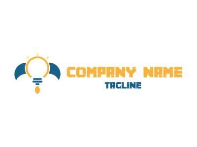 ROCKET LAMP LOGO ui illustrator illustration flat business design graphic design branding yellow logo lamp rocket